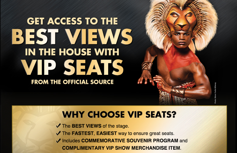 Get access to the best views in the house with premium seats from the official source